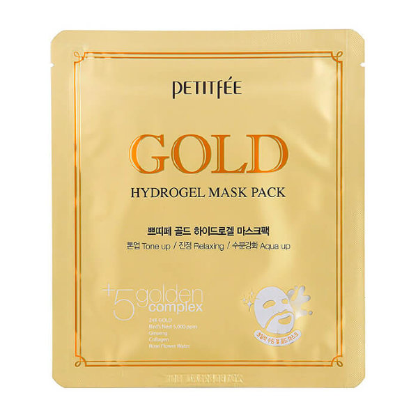 PETITFEE Gold Hydrogel Mask Pack Золотая маска