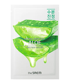 THE SAEM Маска тканевая с экстрактом алое вера Natural Aloe Mask Sheet