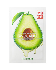 THE SAEM Маска тканевая с экстрактом авокадо Natural Avocado Mask Sheet