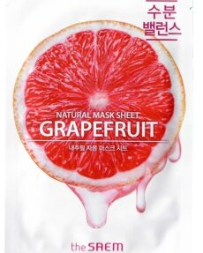 THE SAEM Маска тканевая с экстрактом грейпфрута Natural Grapefruit Mask Sheet