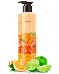DEOPROCE Healing mix & plus body cleanser lime citrus Гель для душа, 750г