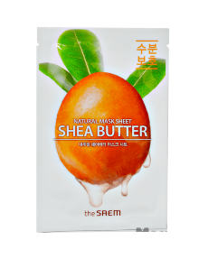 THE SAEM Natural Shea Butter Mask Sheet Тканевая маска с маслом Ши